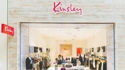 Kinsley Brand Identity Logo Design Store Signage