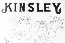 Kinsley Identity Design Sketch