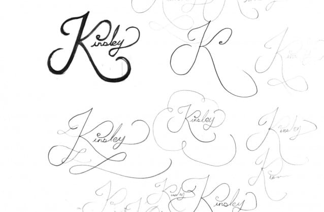 Kinsley Logo Design Sketch