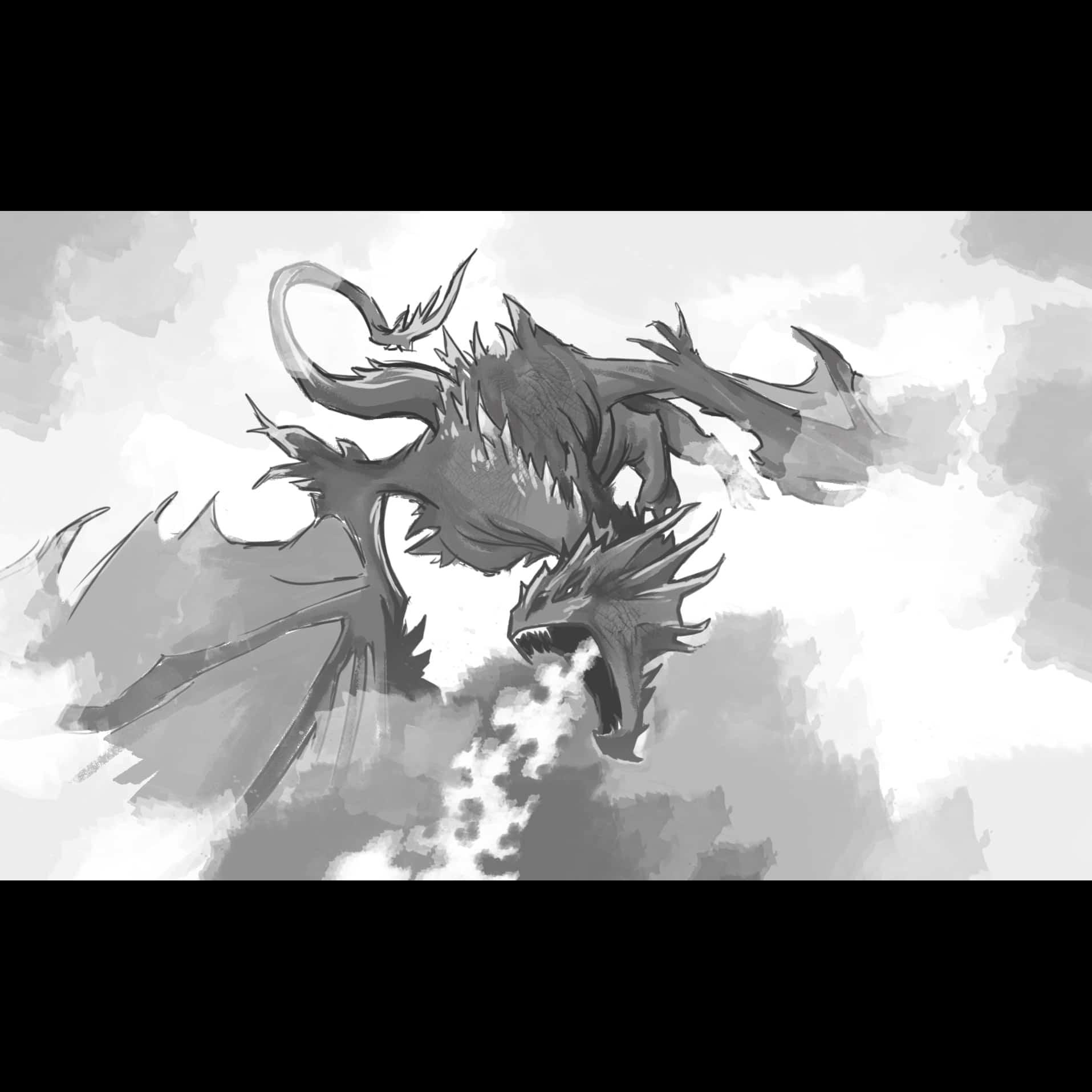 Dragon storyboard illustration