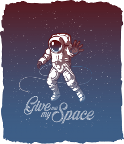 Vacancy Apparel Astronaut T-Shirt Design
