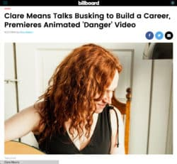 Clare Means Launches Animated Video by Zookeeper on Billboard's Site