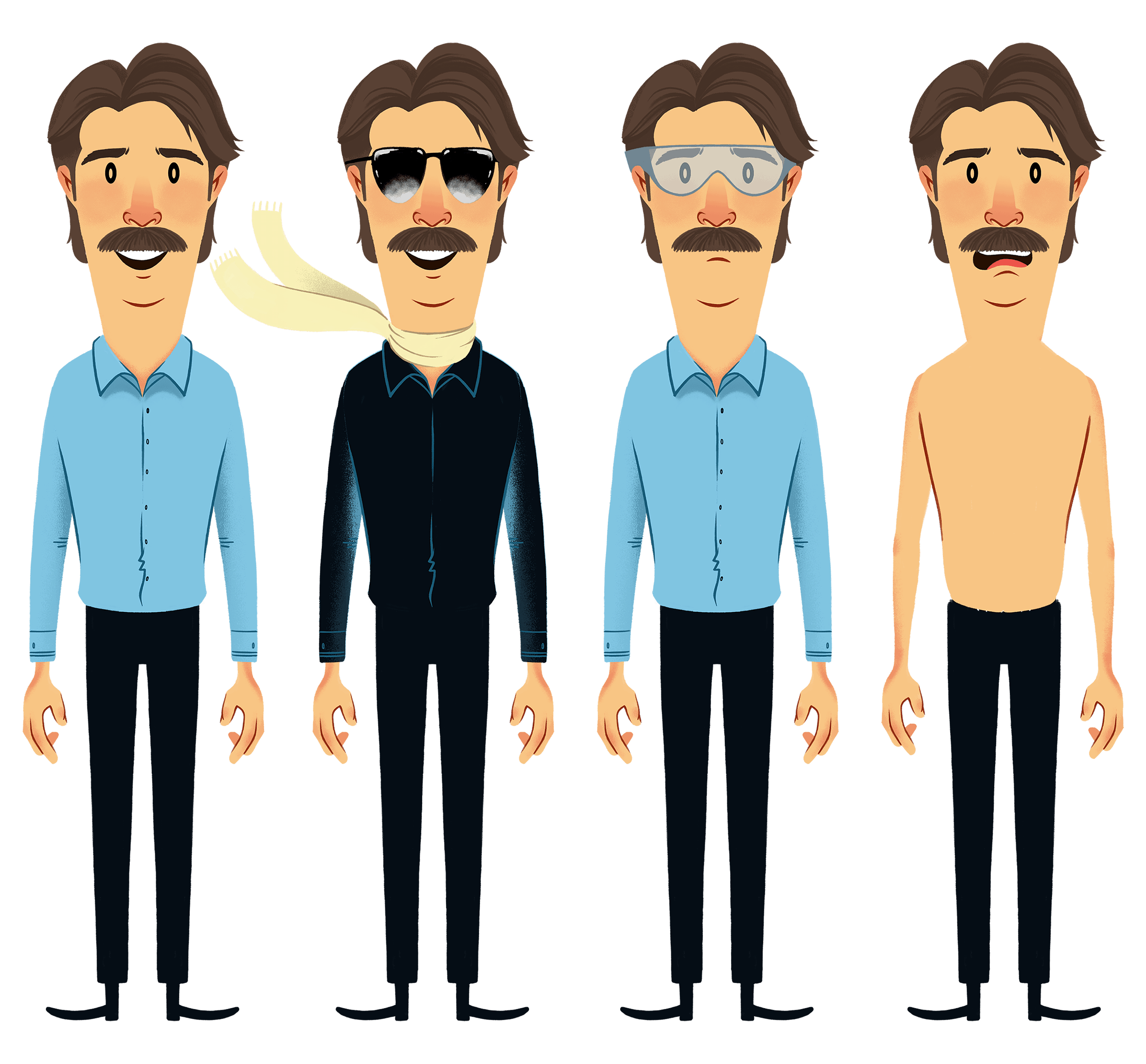 Jeff Foxworthy Character Illustration Variety