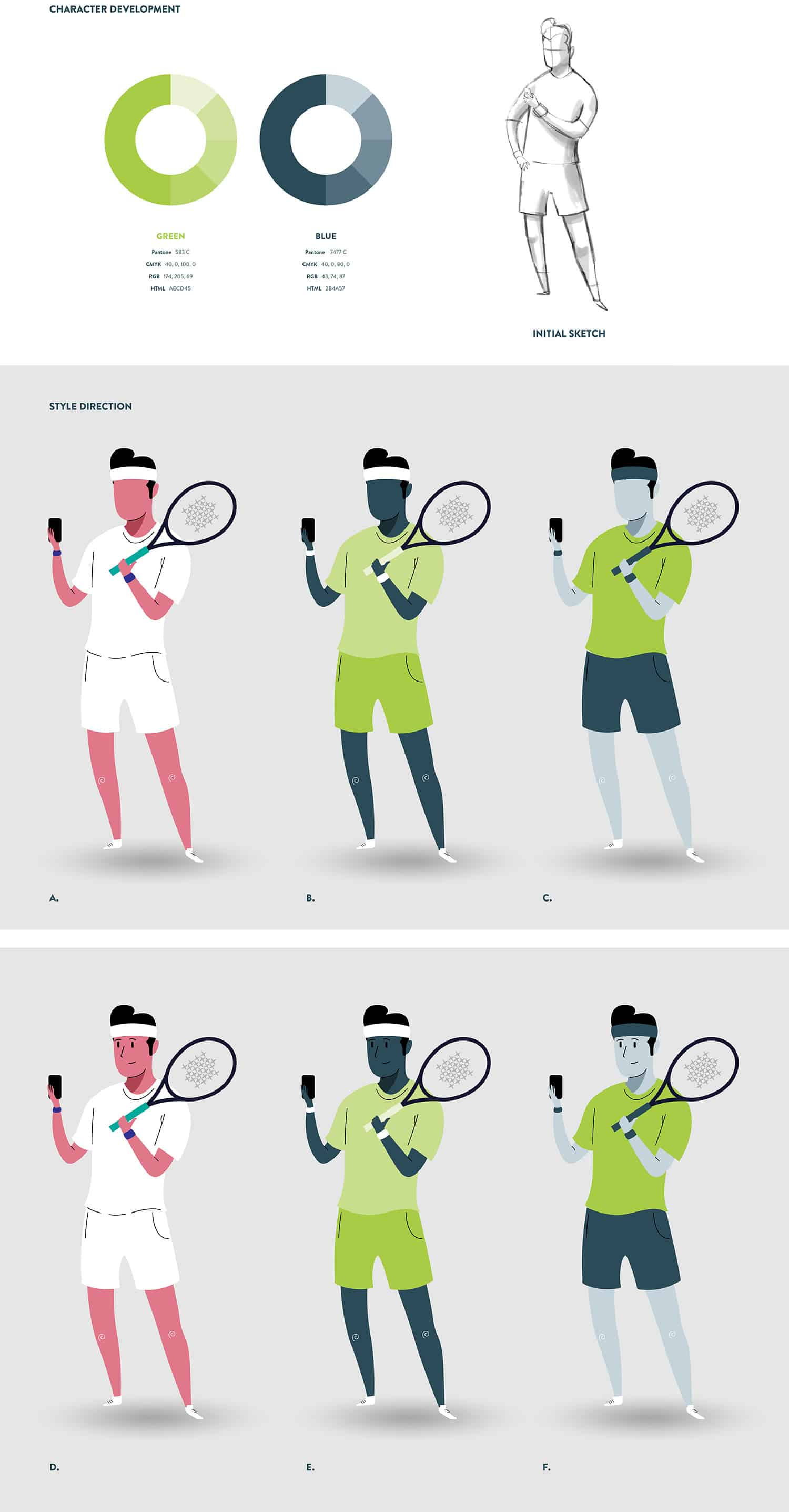 TennisPal Coach Male Character Development