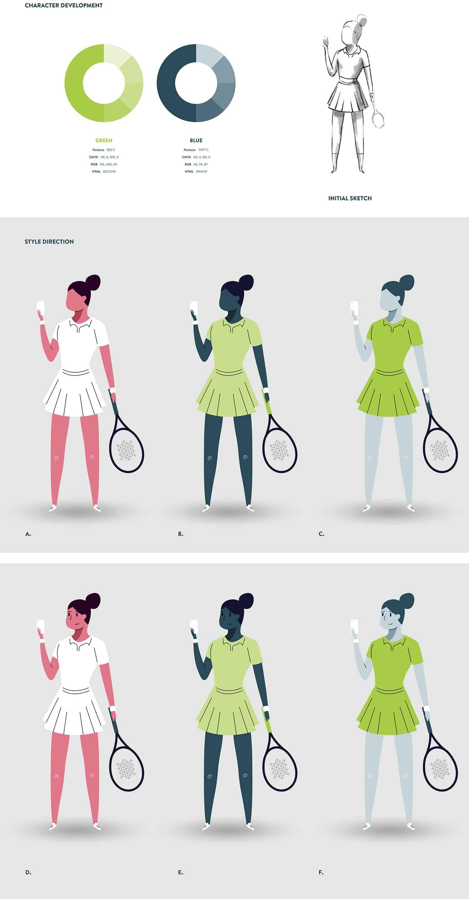 TennisPal Coach Female Character Development