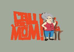 Call Your Mom App Logo Design Brand Identity